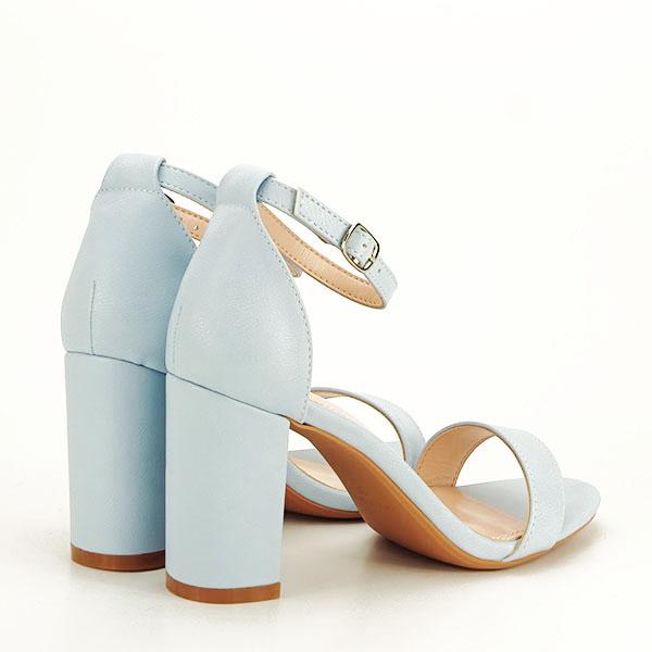 Sandale albastre cu toc gros Ingrid [4]