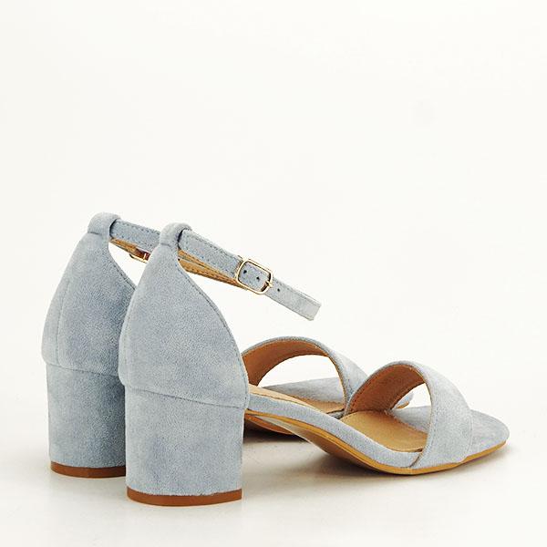 Sandale albastre din velur Lorena [4]