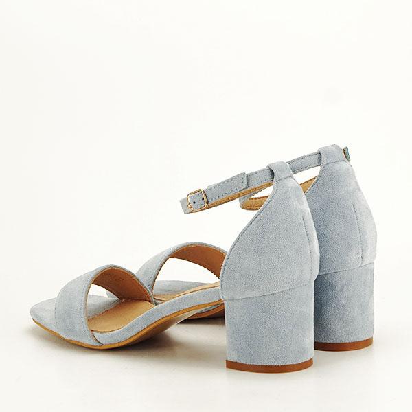 Sandale albastre din velur Lorena [3]