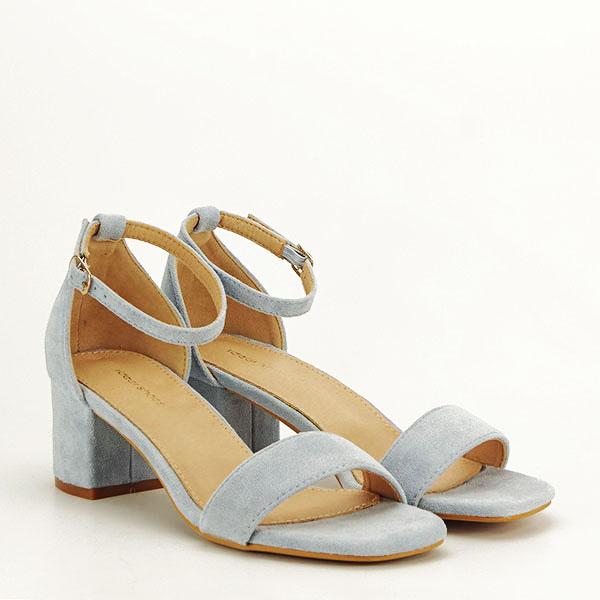 Sandale albastre din velur Lorena [2]