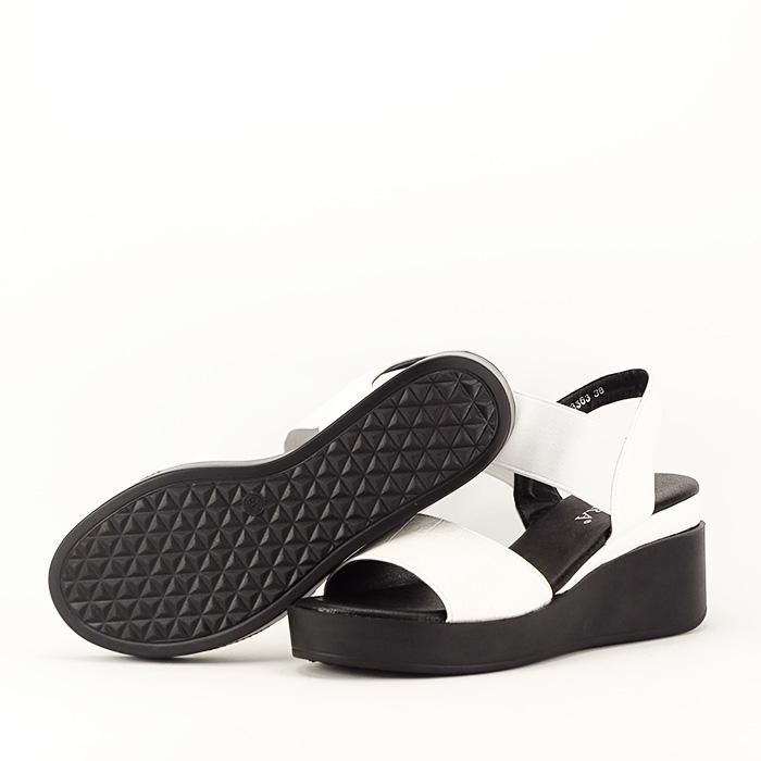 Sandale albe cu platforma Beth 3
