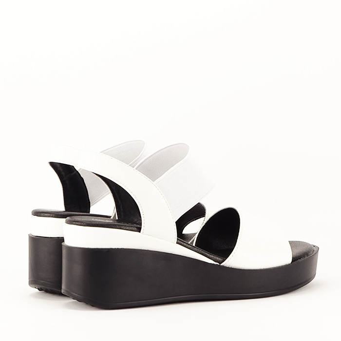 Sandale albe cu platforma Beth 7