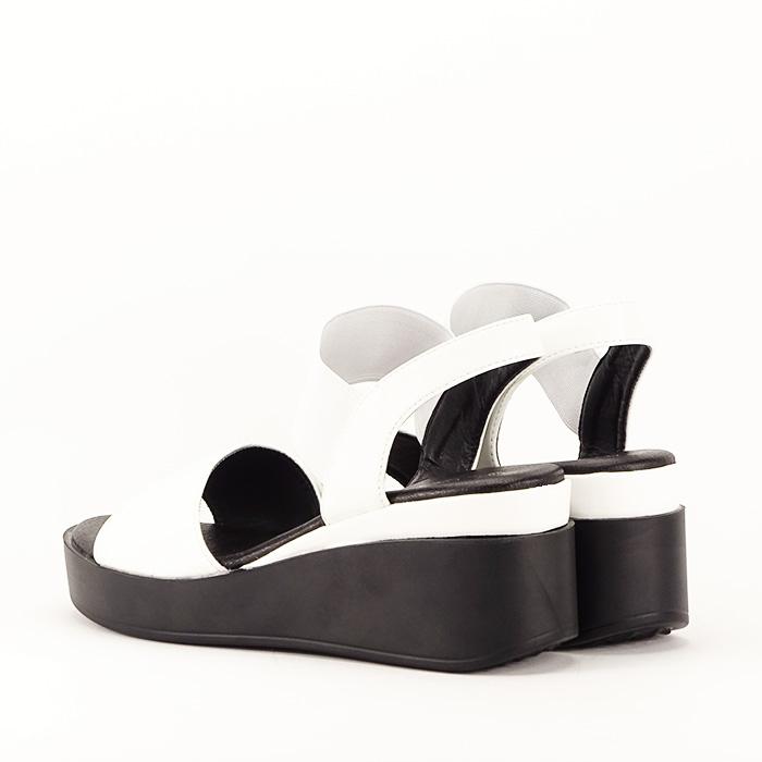Sandale albe cu platforma Beth 5