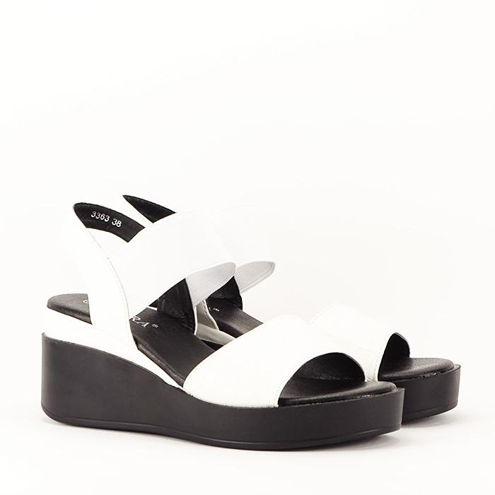Sandale albe cu platforma Beth 4