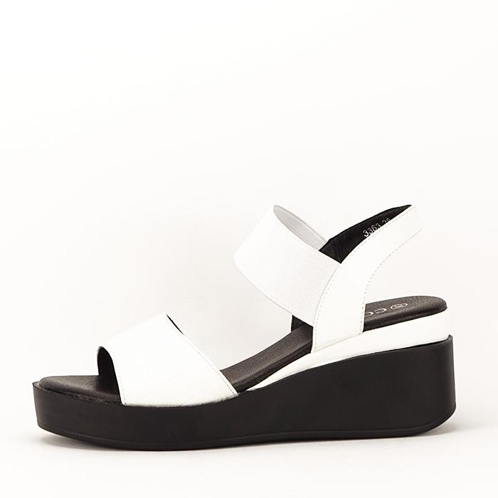 Sandale albe cu platforma Beth 1