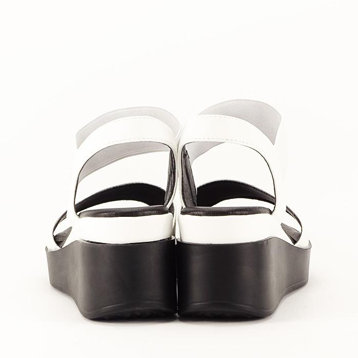 Sandale albe cu platforma Beth 6