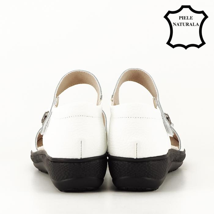 Sandale albe din piele naturala Agata [4]