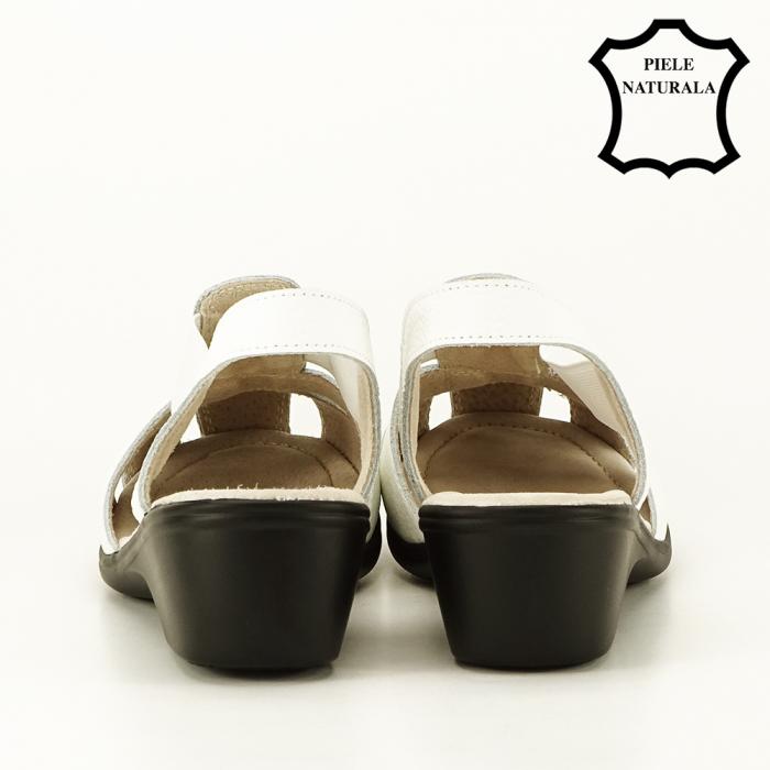 Sandale albe din piele naturala Codruta [3]