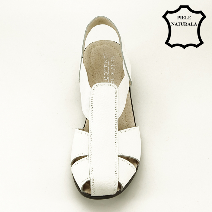 Sandale albe din piele naturala Codruta [5]