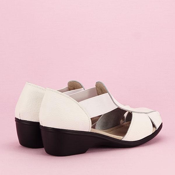 Sandale albe din piele naturala Calypso [4]
