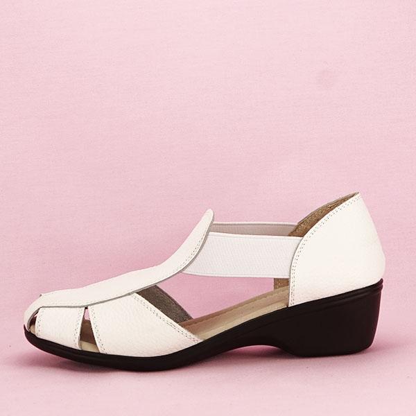 Sandale albe din piele naturala Calypso [0]