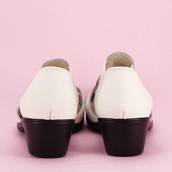 Sandale albe din piele naturala Calypso [5]