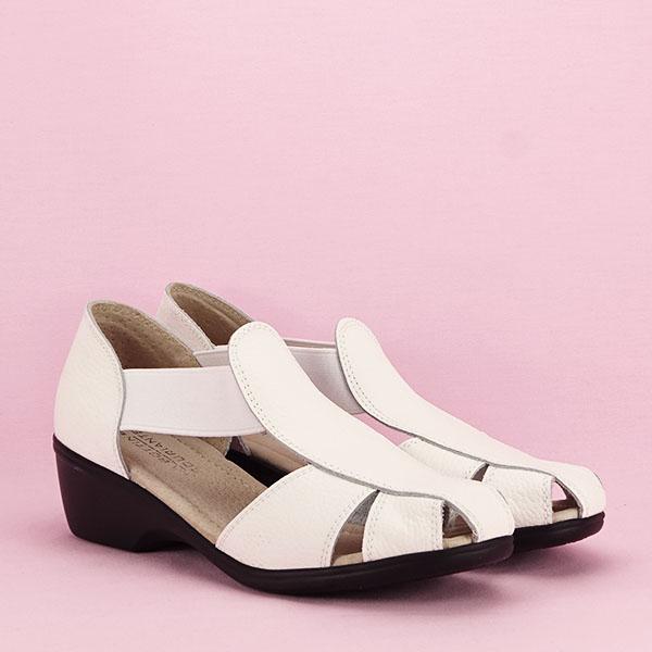 Sandale albe din piele naturala Calypso [2]