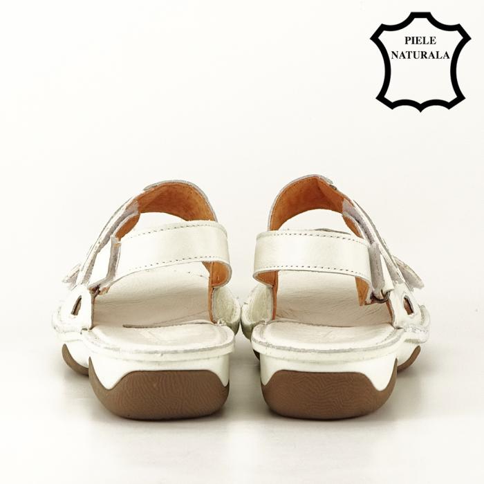 Sandale albe din piele naturala Florina [4]