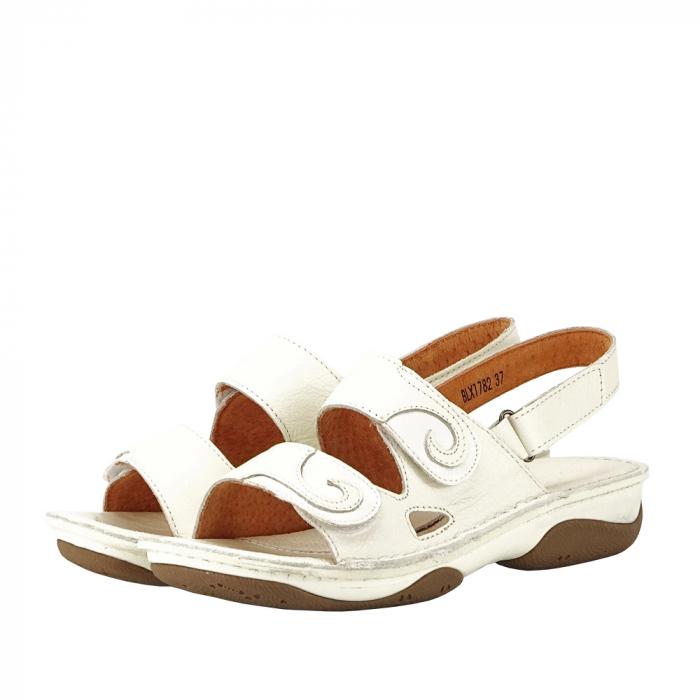 Sandale albe din piele naturala Florina [0]
