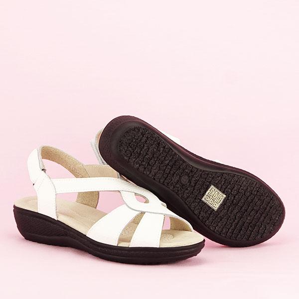 Sandale albe din piele naturala Mabel [7]