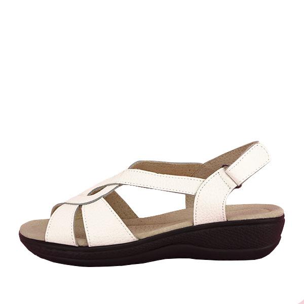 Sandale albe din piele naturala Mabel [0]