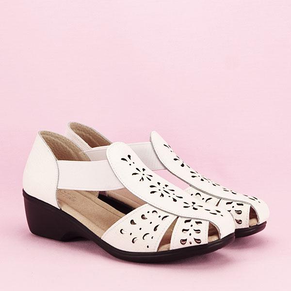 Sandale albe din piele naturala Ozana [2]