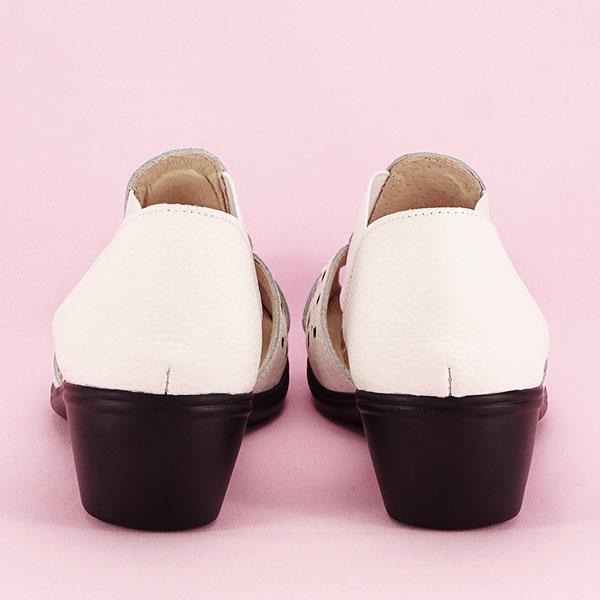 Sandale albe din piele naturala Ozana [5]