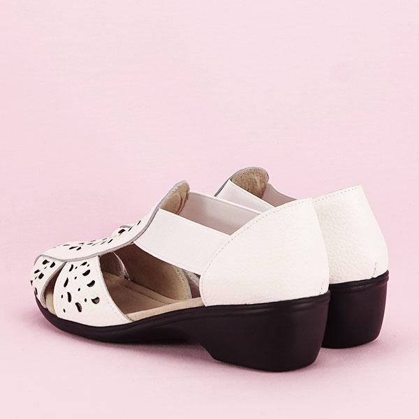 Sandale albe din piele naturala Ozana [3]