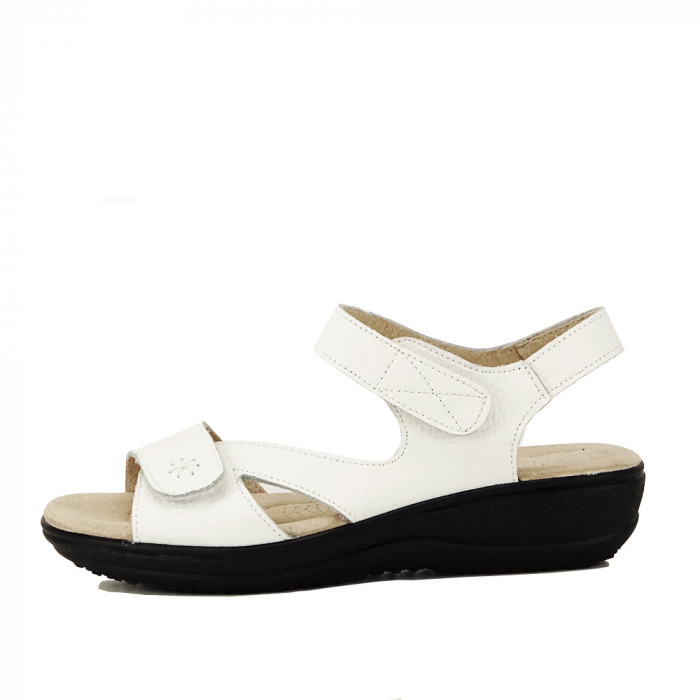 Sandale albe din piele naturala Sara 0
