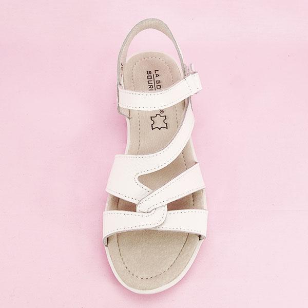 Sandale albe din piele naturala Suzana [6]
