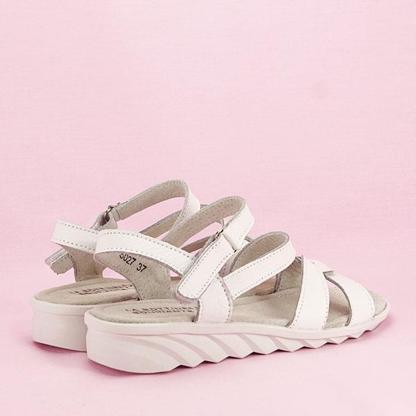 Sandale albe din piele naturala Suzana [4]