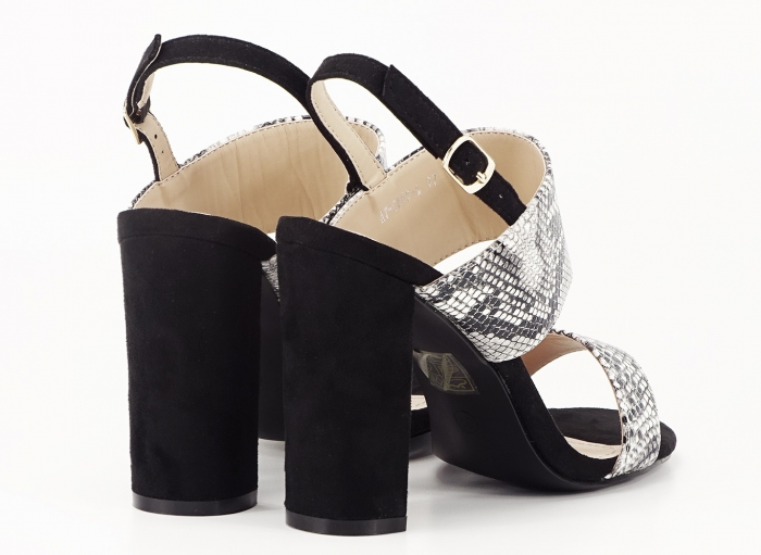 Sandale dama cu imprimeu de sarpe si toc inalt Cassiana 2