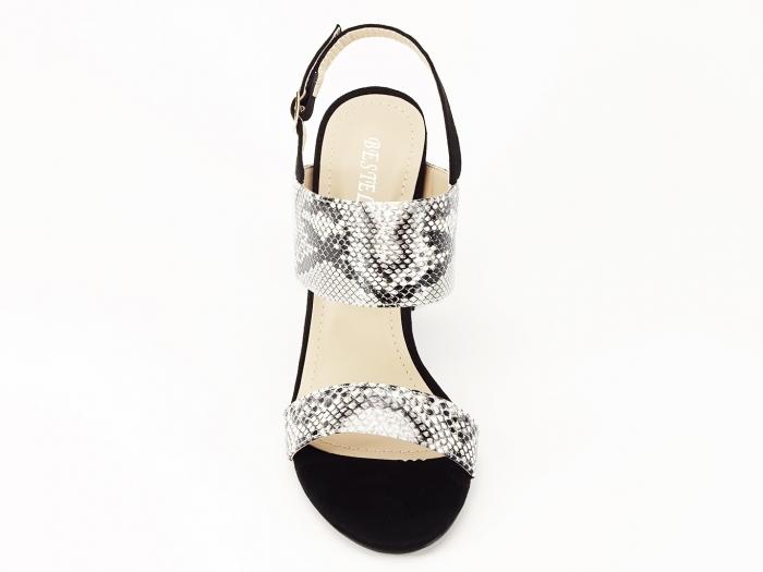 Sandale dama cu imprimeu de sarpe si toc inalt Cassiana 4