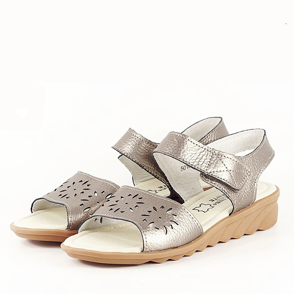 Sandale argint vechi din piele naturala Catis [0]