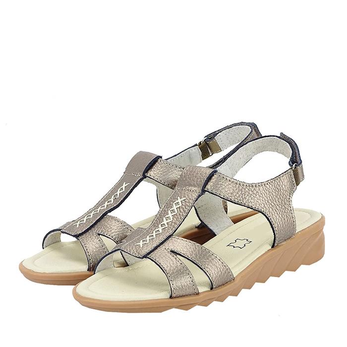 Sandale argintii  din piele naturala Silvia 0
