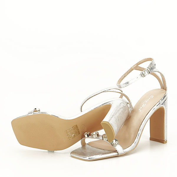 Sandale argintii cu imprimeu Lola [4]