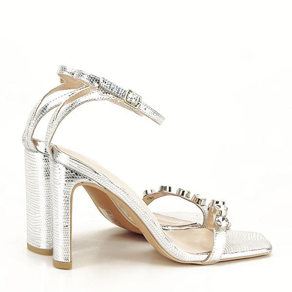 Sandale argintii cu imprimeu Lola [7]