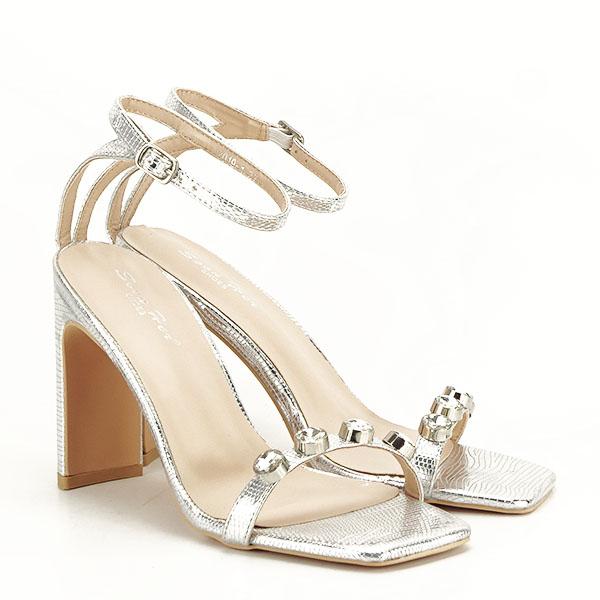 Sandale argintii cu imprimeu Lola [2]