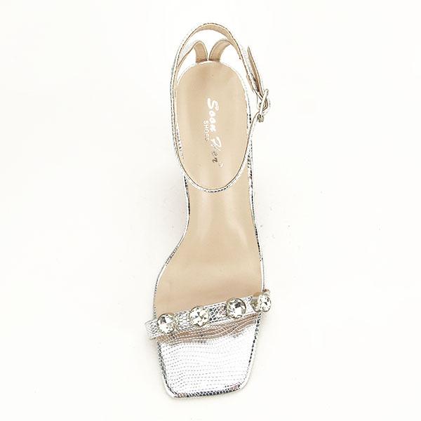Sandale argintii cu imprimeu Lola [3]