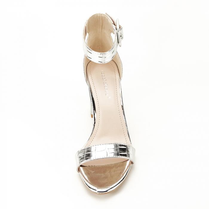 Sandale argintii cu imprimeu reptila Miruna [7]