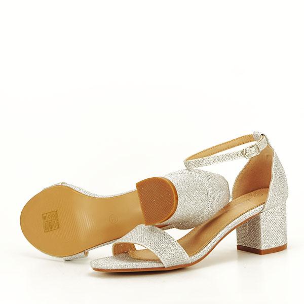 Sandale argintii cu sclipici Miria [7]