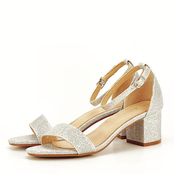Sandale argintii cu sclipici Miria [1]