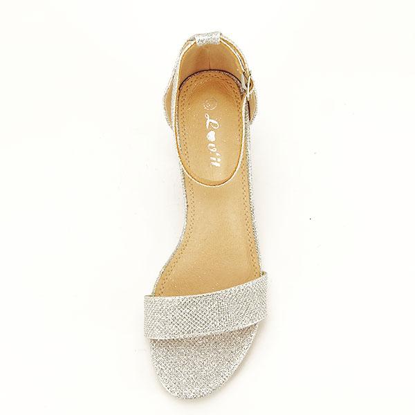 Sandale argintii cu sclipici Miria [2]