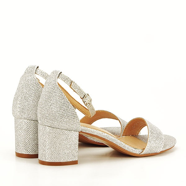 Sandale argintii cu sclipici Miria [5]