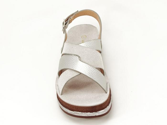 Sandale dama arginti cu talpa joasa Sorento 2