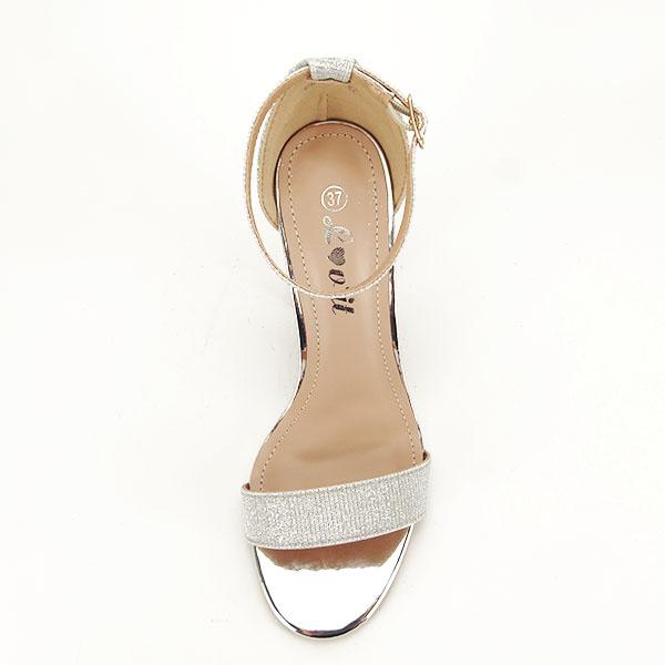 Sandale argintii elegante cu sclipici Simona [2]
