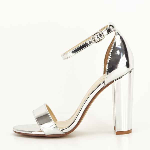 Sandale argintii elegante Elisabeta [0]