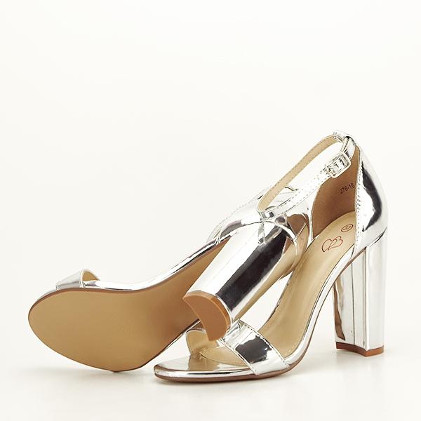 Sandale argintii elegante Elisabeta [7]