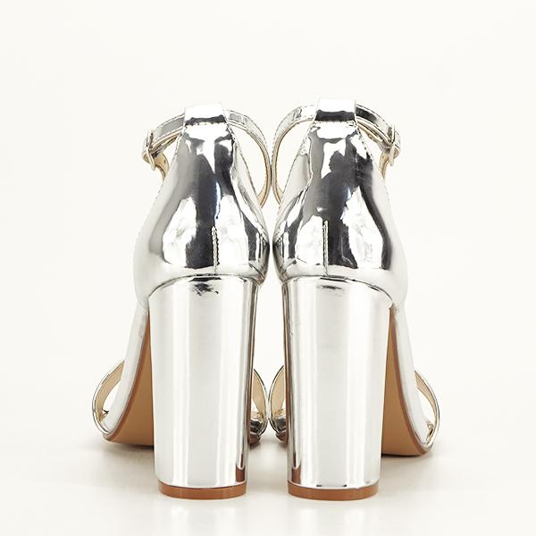Sandale argintii elegante Elisabeta [6]