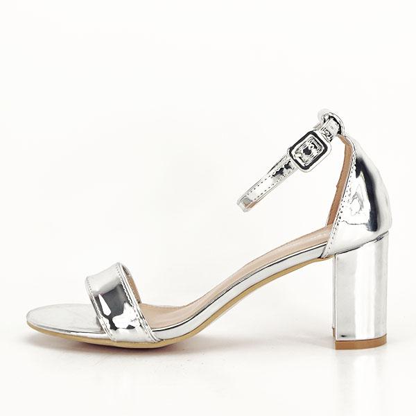 Sandale argintii lacuite Sofia [0]
