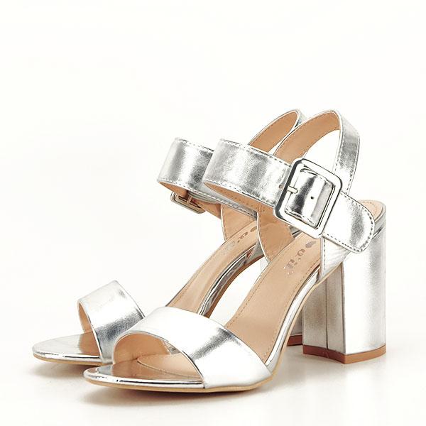 Sandale argintii office/casual Berna [1]