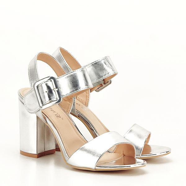 Sandale argintii office/casual Berna [3]