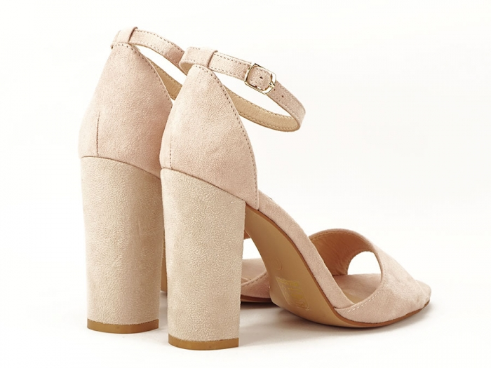 Sandale elegante bej cu toc inalt Afrodita 5