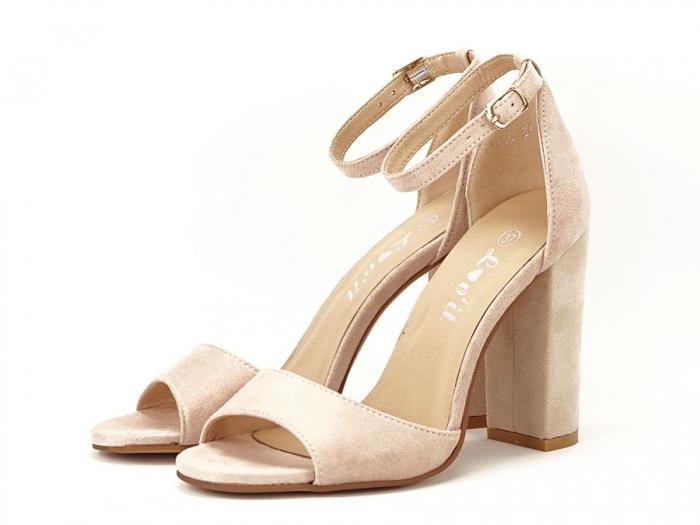 Sandale elegante bej cu toc inalt Afrodita 2